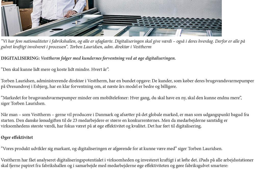 Digitalisering af fabriksgulvet: iPads gør os klogere